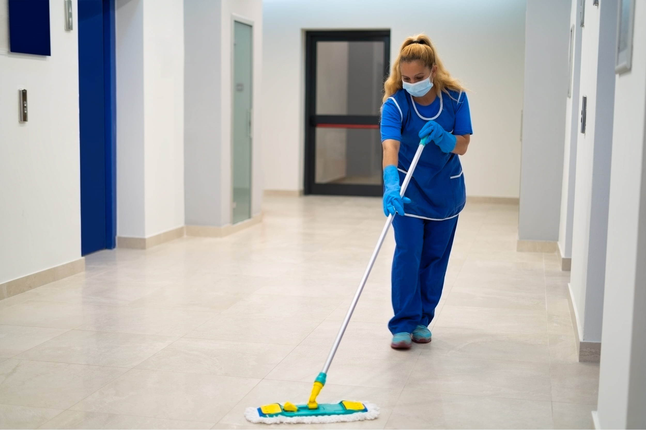 woman mopping floor. Star Clean Ltd, Cleaning, Cleaners, Commercial Cleaners, Domestic Cleaners. Bath, Bristol
